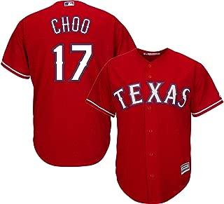 Shin-Soo Choo Texas Rangers Youth 8-20 Red Alternate Cool Base Replica Jersey