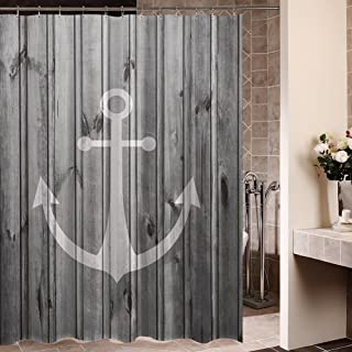 ZBLX Waterproof Decorative Rustic gray Anchor shower curtain 60 x 72inch