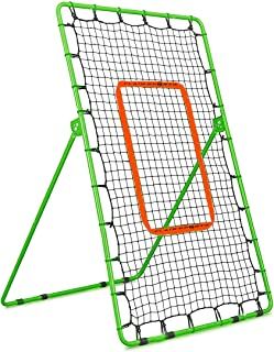 Flair Sports Pitch Back Baseball/Softball/Lacrosse Rebound Net | Pitching and Throwing Practice Return Net | Pitchback Trainer