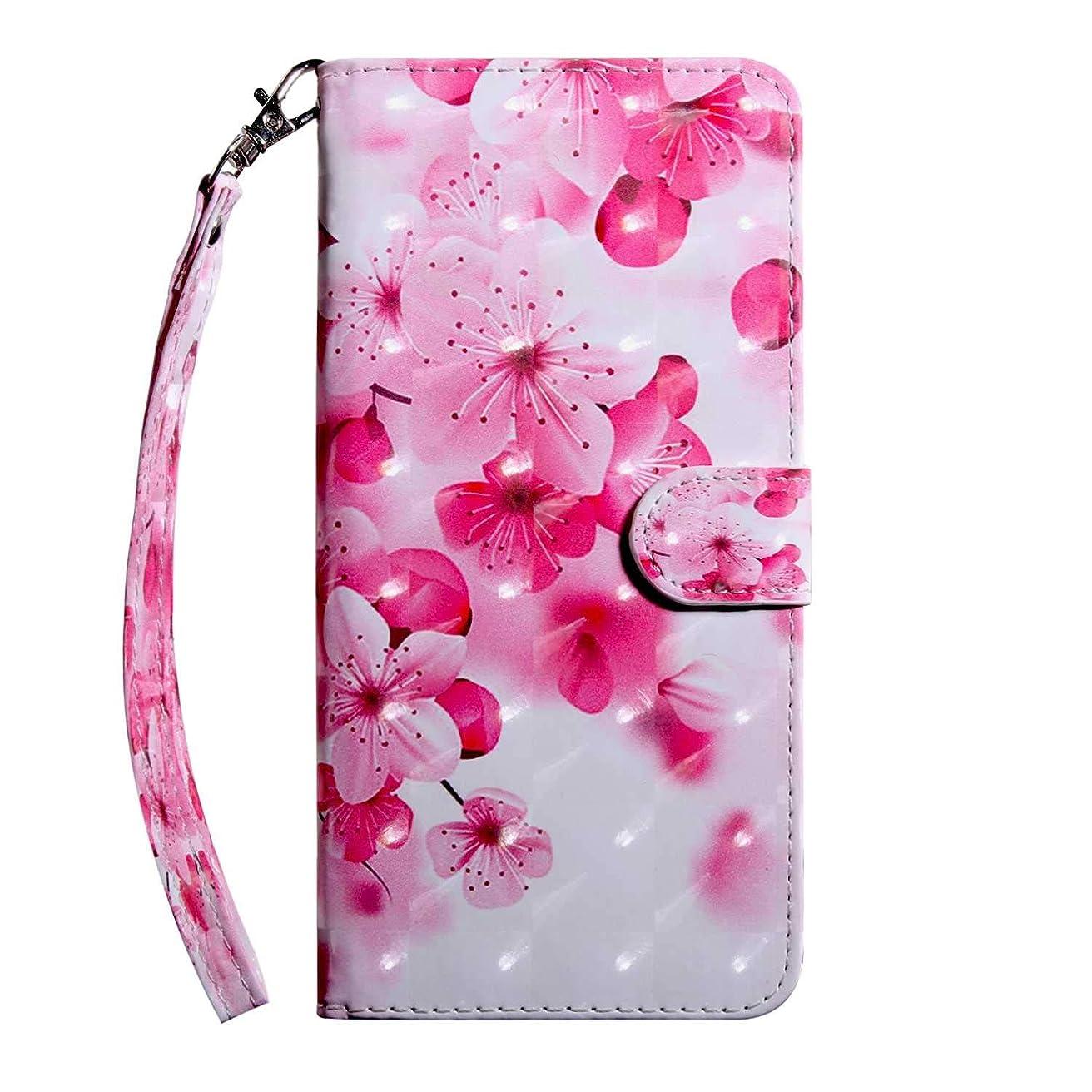 どれか強制的ラジエーターCUSKING Sony Xperia XA2 ケース 手帳型 財布型カバー Sony Xperia XA2 スマホカバー 磁気バックル カード収納 スタンド機能 エクスペリア レザーケース –さくら