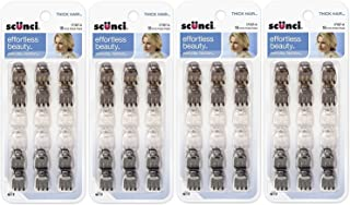 Scunci Effortless Beauty Thick Hair Mini Jaw Clips, 1 cm, 18-Count (Pack of 4)