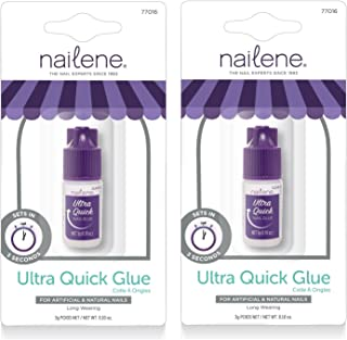 Nailene Ultra Quick Nail Glue (Pack of 2)…