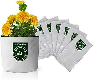 TrustBasket Large Poly Grow Bags UV Stabilized 10 Qty [24Cms(L) X24cms(W) X40cms(H)]