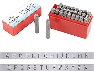 PH PandaHall 刻印セット 27個 打刻印 アルファベット 数字 レザークラフト 銅板 真鍮板 アルミ版 指輪 アクセサリー 軟質の金属への打刻 DIY用 手芸材料 手作り素材 レザークラフト用 8mm アルファベットA-Z