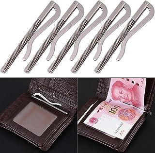 1 Pinza de Dinero para Dinero en Efectivo Billetera de Billetera Carpeta de Billetes de Negocios Monedero para Bolsillo de Metal Lumanuby Soporte de Abrazadera port/átil de Acero Inoxidable