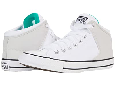 Converse Chuck Taylor All Star High Street Mid (Pale Putty/White/White) Athletic Shoes
