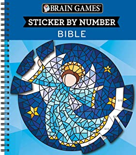 Brain Games - Sticker by Number: Bible