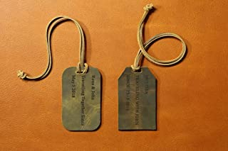 Personalized Leather Luggage Tag Tags/Travel Bag Tag/Custom Leather Tag/leather anniversary gift - LT000S