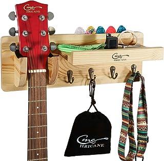 Hricane Guitar Hanger Wall Mount Bracket Holder Wood Hook for Bass Electric Acoustic Guitar Ukulele