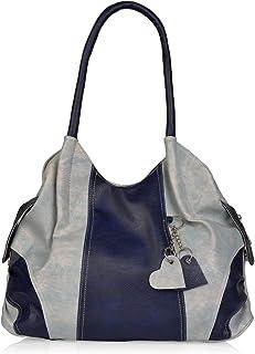Aisna Women's Handbag(ASN-177)(Blue,Light Blue)