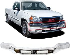 MBI AUTO - Chrome Steel, Front Bumper Face Bar for 2003 2004 2005 2006 GMC Sierra 1500 2500HD 3500 & 2007 Classic Pickup, GM1002418