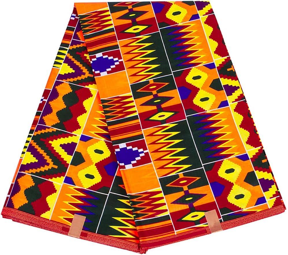 6 Yards African Batik Fabric Manufacturer OFFicial shop 100% Pattern Print f Fashion Finally popular brand Cotton