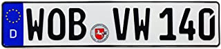 Z Plates Compatible with VW Wolfsburg Front German License Plate
