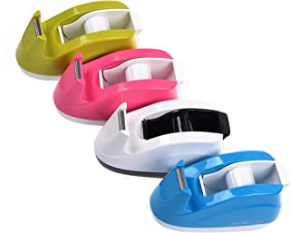 COSMOS® Heavy Duty Tape Dispenser ,Weighted Base, Nonskid Pad for One-hand Dispensing Color Random (808)