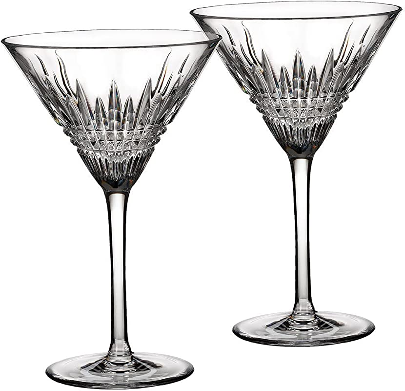 Waterford Crystal Lismore Diamond Martini Glasses Pair