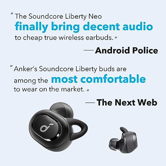 Anker Soundcore Liberty Neo Bluetooth Kopfh/örer Kabellose Kopfh/örer mit Premium Klangprofil mit intensivem Bass IPX7 Wasserschutzklasse Bluetooth 5.0 Rot General/überholt Bequemer Halt