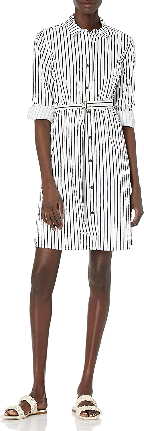 Tommy Hilfiger Women's Adaptive Shirt Dress with Magnetic Buttons