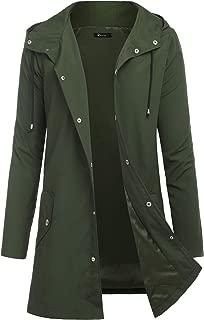 Men Raincoats Waterproof Jacket with Hood Active Outdoor Long Windbreaker Lightweight Rain Jacket for Men