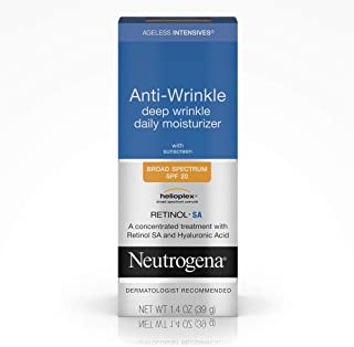 Neutrogena Ageless Intensives Anti Wrinkle Cream – Facial Moisturizer with SPF 20..