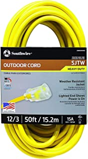 Best 12 3 lighted outdoor extension cord Reviews