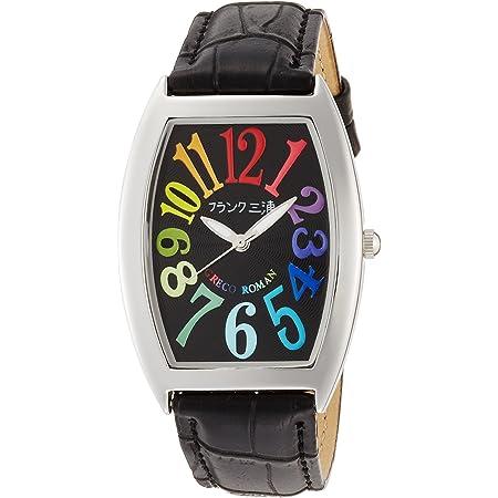 [フランクミウラ] 腕時計 フランク三浦 アナログ レインボー 零号機 グレコローマンスタイル400戦無敗 記念モデル 革ベルト FM00K-CRB メンズ ブラック