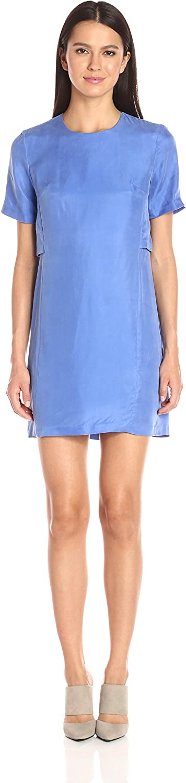 A X Armani Exchange Womens Short Sleeve Double Layer Dress Dress