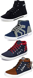 ETHICS Perfect Combo Pack of 4 Multicolored Casual Sports Sneakers for Men's