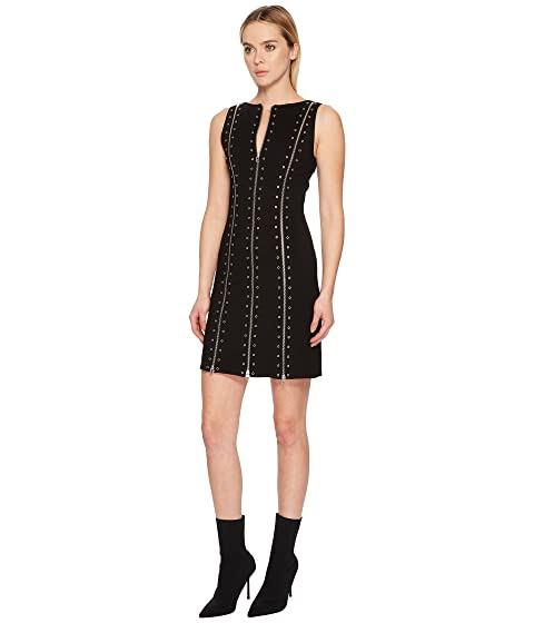 Biker Dress McQ Darkest Black Zip wX04Aq1