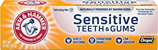 ARM & HAMMER Sensitive Teeth & Gums Toothpaste-Multi-Pack of 12 4.3oz Tubes, Refreshing Mint- Fluoride Toot...