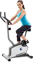 Marcy Upright Exercise Bike with Adjustable Seat and 8 Magnetic Resistance Preset Levels NS-1201U