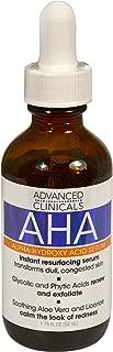 Advanced Clinicals AHA Alpha Hydroxy Acid Instant Resurfacing and Hydrating Serum 1.75 Fl Oz. (1.75oz)