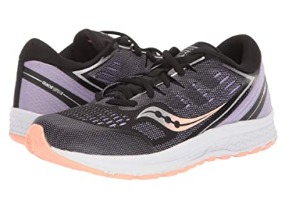 Saucony Kids Guide ISO 2 (Little Kid/Big Kid) (Black/Purple) Girls Shoes