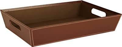 """Wald Imports 7113/BRN 17"""" Paperboard Tray, Brown"""