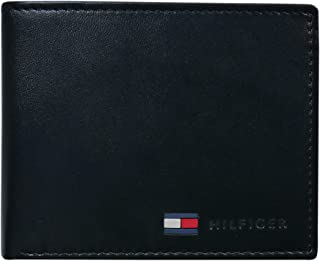 Coin Pocket Wallet - Genuine Leather Slim Single Fold Bifold for Men with Small Pouch