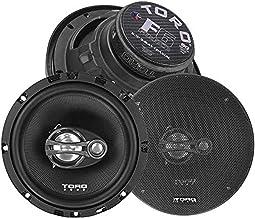 """$39 » TORO TECH – F6, 6.5 Inch 3-Way Coaxial Car Speaker Set - 120 Watt MAX / 60 Watts RMS, Ferro Fluid Tweeters, 4 Ohm, 1"""" KSV ..."""