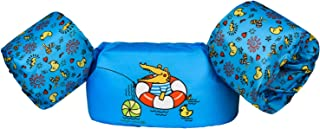 Dark Lightning Kids Life Vest,Floatie up to 50 Pounds,Toddler Swim Vest with Water Wings for Girls and Boys,Children Floatation Device for Puddle/Beach,Play Like Jumper