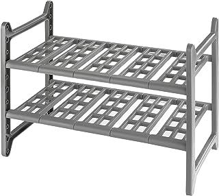 WENKO Étagère sous évier Flexi - télescopique, Aluminium, 44-82 x 39 x 28 cm, Aluminium