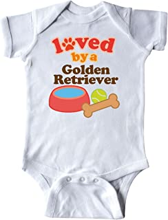 Golden Retriever Loved by a (Dog Breed) Infant Creeper