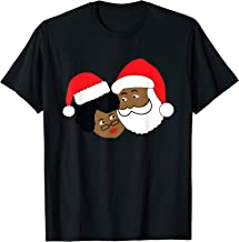 Black Santa Claus and Mrs. Claus Ethnic Christmas T-Shirt