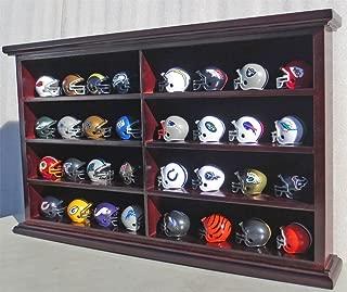 Pocket Size Mini Football Helmet Display Case Cabinet Holders Rack w/UV Protection