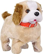 Techno Hight Barking, Waging Tail, Walking and Jumping Puppy, Battery Operated Back Flip Jumping Dog with Sound and Music Best Gift for Toddlers and Kids