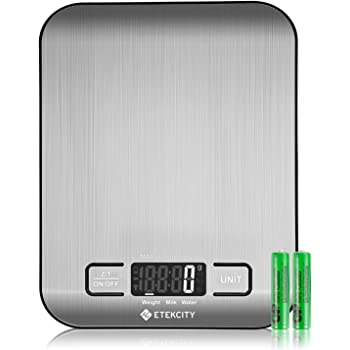 Etekcity Food Scale, Digital Kitchen Weight Grams and Ounces for Baking and Cooking, Small, Stainless Steel