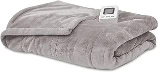 SensorPedic Heated Electric Blanket with SensorSafe, Twin, Soft Grey