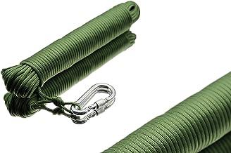 550 Paracord touw van scheurbestendig nylon zwart 9 x 4 strengen 31 m/100 ft lang 4 mm dik en 250 kg draaglast! Inclusief ...