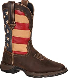 Women's RD4414 Western Boot, Brown/Union Flag, 8 M US