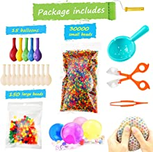 Water Beads Pack (30000 Small Water Beads /150 Large Jumbo Water beads/15 Balloons) Mixed Jelly Beads Water Gel Balls,Sensory Toys and Decoration