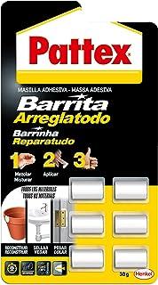 Pattex Barrita arreglatodo, masilla adhesiva sella, pega, monodosis 6 x 5 gr