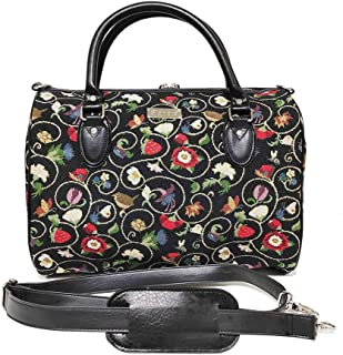 Signare Tapestry Duffle Bag Overnight Bags Weekend Bag for Women with Jacobean Dream Designs