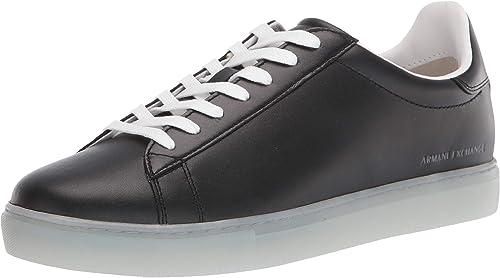 Armani exchange snk calf leather, scarpe da ginnastica basse uomo XUX001XV093