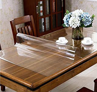 Protector de mesa transparente de PVC, lámina de plástico transparente de 1,8 mm de grosor, apto para alimentos, protector transparente para mesas